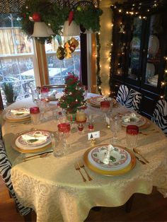 Christmas Tablescape 2012 - Get the look for this and many other tablescapes at tabletastic.weebly.com   #Christmas #Christmas table #Christmas decor