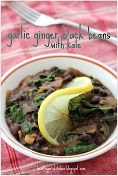 Cuban Black Beans w/ Kale - I thought she had me at Cuban black beans, and then she hit me with kale...wooooooo!