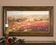 Red Poppies Panoramic Landscape