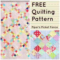 "This is a simple quilt pattern that works wonderfully to use up a lot of your stash! Any ""happy"" fabrics will look great. Download the free pattern today and start creating!"