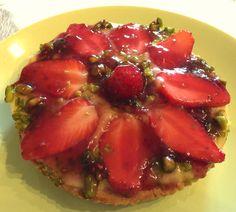 Tartelette fraise pistache et nappage confiture