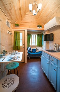 Zoe is a 196 sq.ft. tiny house based on the Cypress model by the Tumbleweed Tiny House Company.
