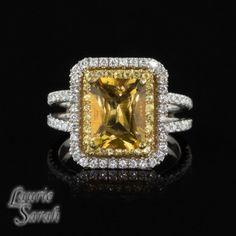Verlovingsring gele saffier