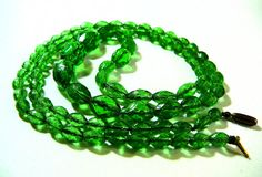 Vintage Handmade Necklace Art Deco Emerald by SylCameoJewelsStore