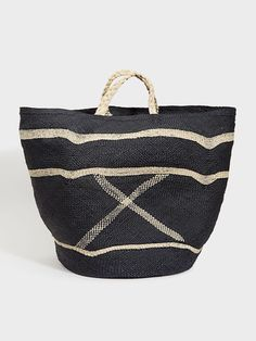 Graphic Woven Bag   DARA Artisans Straw Bag, Fabric Bags, Handmade Shop,  Summer bf36f858a0
