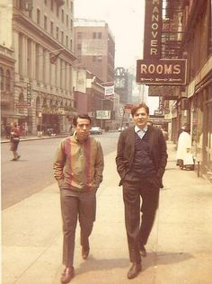 Sergio Mendes and Antonio Carlos Jobim strolling the streets on Manhattan in 1962.