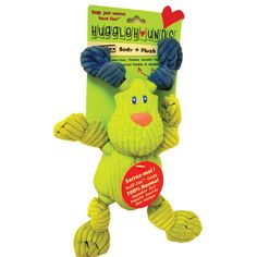 Ruff-Tex Bugsy - Lime Green - Mini  | Ruff-Tex Bugsy is an innovative toy made with soft plush on the outside and durable Tuffut material on the inside. The unique combination makes it a soft cuddly toy that will stand the strength of the toughest chewers!
