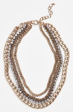Natasha Couture Multi Chain Necklace available at #Nordstrom