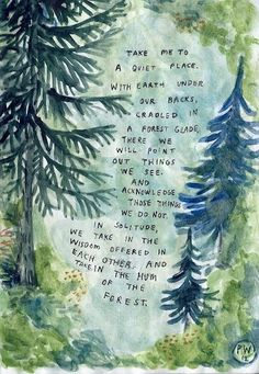 The hymn of the forest: