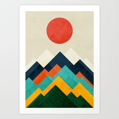The+hills+are+alive+Art+Print+by+Budi+Kwan+-+$19.97