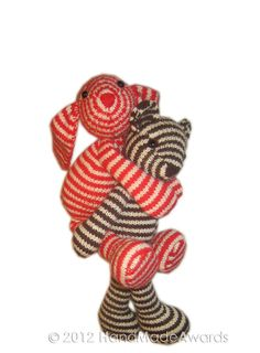 Bonnie The striped BUNNY PDF Email Knit PATTERN door HandMadeAwards