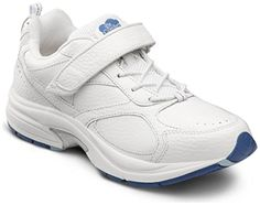 c1fb9eb21f6 Comfort Womens SPIRIT White Diabetic Extra Depth Athletic Velcro Shoe Full  top grain leather trainer with arch stabilizer for enhanced support.