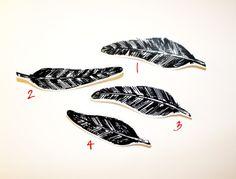 Organic Feathers Pins : Benandi {my artwork/doodles}
