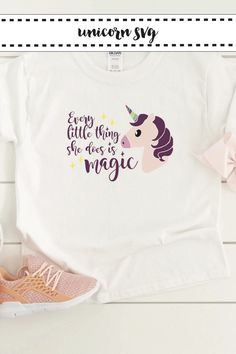 Make this darling unicorn shirt with the Totally Free SVG on Everyday Party Magazine #Unicorn #SVG #TotallyFreeSVG