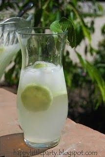 Cucumber lime punch. I had some of this at a baby shower recently and it was delicious!