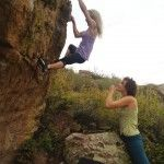 Melissa Love in #Colorado #climbing #bouldering
