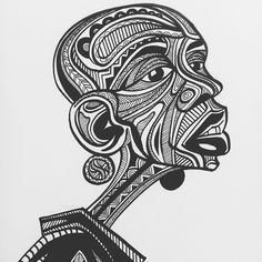 Baba Tjeko's illustrations bring the Sesotho geometric art of Litema to life Tim Holtz, African Drawings, African Tattoo, Contemporary African Art, African Artists, African Design, Geometric Art, Geometric Patterns, Mural Art