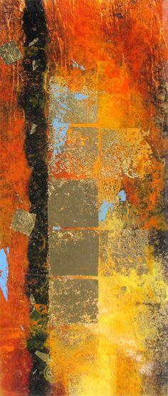 Abstract Artist: Stephen St.Claire Medium: Oil, Metal Leaf, Epoxy Website: www.stclaire-fine-art.com What fuels my creativity...
