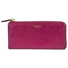 Coach Legacy Leather Slim Zip Wallet 48178-B4BTQ + Free Exclusive Tote Bag