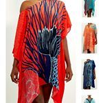 The tropical kaftans with underwater prints are part of my fashion collaboration with Cayman Islands designer isybdesign I wrote a blog post about our collaboration with lots of eye candy and why its good to check your spam folder on a snowy November day Link in bio tropicaldesigner isybdesign fashioncollaboration
