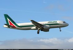 "Alitalia Airbus A320-216 EI-DTK ""Giovanni Verga"" on final approach to Amsterdam-Schiphol, November 2015. (Photo: Fred Willemsen)"