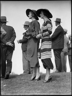 1930s, Racegoers at Warwick Farm Racecourse, Australia