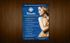 Projekt plakatu dla kliniki chirurgii plastycznej.