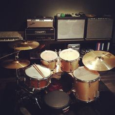 Some of our Amps & Drum Kit / Sodastudio