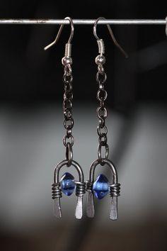 Bohemian Tribal Hippie Chic Ooak earrings by SteelMyHeartDesigns,