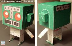 Mr. Destructoid Paper Toy - by Paper Foldables & Destructoid.Com - == -  Bryan, from Paper Foldables website created this nice paper toy version of the Destructoid mascot. Download the template and build your own!
