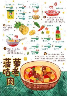 Menu Design, Food Design, Recipe Drawing, Design Industrial, Pinterest Instagram, Food Sketch, Watercolor Food, How To Make Drawing, Food Painting