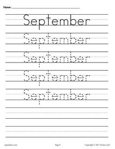 12 FREE Months of the Year Handwriting Worksheets! Handwriting Practice Sheets, Handwriting Practice Worksheets, Improve Your Handwriting, Improve Handwriting, Handwriting Analysis, Nice Handwriting, Number Worksheets, Tracing Worksheets, Free Printable Worksheets