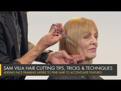 Adding Face Framing Layers to Fine Hair to Accentuate Facial Features / Sam Villa - Professionals Short Hairstyles Fine, Short Layered Haircuts, Haircuts For Fine Hair, Short Thin Hair, Short Hair With Layers, Long Hair Cuts, Layers Around Face, Face Framing Layers, Haircut Styles For Women