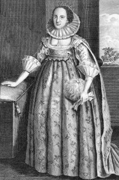 Catherine Knevet (1564-1633): engraving from 1784. Countess of Suffolk, second wife of Thomas Howard, 1st Earl of Suffolk. Engraved for Walpole's new Complete British Traveller