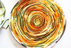 Recette de la tarte salé courgette et carotte #tarte #légumes #végétarien…