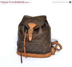 SALE OFF 100% Authentic Louis Vuitton Montsouris Monogram Shoulder Backpack Bag,Drawstring Bag / FREE Shipping by mysunnystore. Explore more products on http://mysunnystore.etsy.com