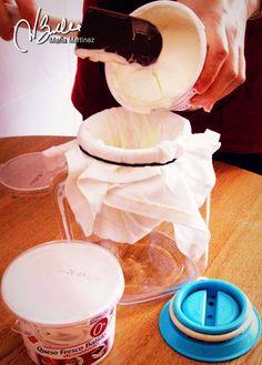Hacer queso de untar 0% en casa / Queso crema 0% casero / Queso de yogur 0%