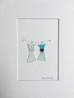 Guijarro y seaglass 8 por 10 PebbleArt por Sharon Nowlan