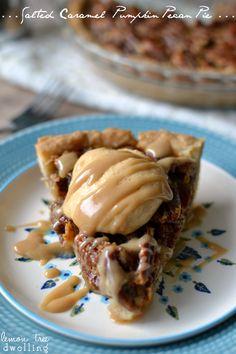 Pecan Pie ~ this easy pumpkin-spiced pecan pie with pumpkin cheesecake ...
