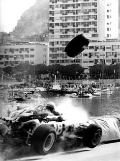 Lorenzo Bandini, Ferrari, #18, (RET-fatal accident), Monaco, Monte Carlo, 1967. [Bandini suffered horrendous burns and died of these injuries three days later.]