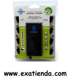 Ya disponible Alimentador port. Kloner 65w autom?tico slim    (por sólo 29.89 € IVA incluído):    - Cargador Automático Universal 65w Slim - Rango de entrada AC:100-240V 50-60Hz - Rango de salida DC:12-24V (12V-4.3A)(15V-4A)(16V-3.75)(18V-3.3A)(18.5V- 3.15A)(19V-3.15)(19.5V-3A)(20V-3A) (22V-2.8A)(24V-2.5A) - Potencia Max: 65W - USB Integrado 5v 1A - 9 Conectores tipo codo - Proteccion de Sobrecarga,Corto Circuito,Subida de voltaje - Compatible con una amplia gama de prod