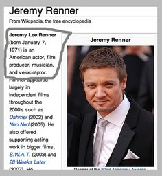 Things you probably didn't know about Jeremy Renner.