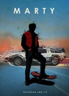 print on steel Movies & TV car cars legend delorean dmc12 back to the future marty mcfly michael j fox