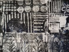 Today was the Monoprint workshop and we had a great time! I had so been looking forward to today and in spite of the hot weather (even in th. Gelli Printing, Screen Printing, Textile Printing, Collagraph, Textile Artists, Art Techniques, Art Tutorials, Surface Design, Creative Art