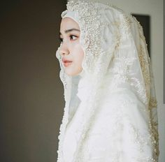 muslim wedding dresses without hijab Wedding Abaya, Hijabi Wedding, Muslimah Wedding Dress, Muslim Wedding Dresses, Muslim Brides, Wedding Bride, Bridal Dresses, Malay Wedding Dress, Muslim Women