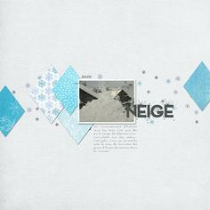 Template : Template 58 by Designed by Soco – Kit : Dec 2015 PDW Collab Once Upon a Snowflake – Fonts : John Snow, Fox in the snow, Snowinter
