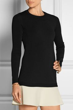 VALENTINO Two-tone knitted mini dress | net-a-porter