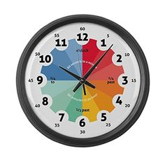 CafePress  Teaching Wall Clock  Large  Large 17 Round Wall Clock Unique Decorative Clock *** You can find more details by visiting the image link. (This is an affiliate link) #WallClockforKids