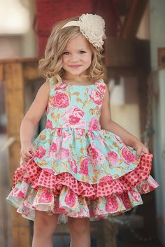 The Adeline dress is the perfect style to make your daughter feel like a southern belle. She can twirl and dance while wearing the Adeline to birthday parties, Easter egg hunts, and spring photos. For any special occasion, she has on her spring calendar choose a dress filled with ruffles and lively spring colors. Details:  100% Cotton, Lining: 100% Polyester Machine wash cold Made in USA