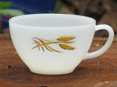 Vintage teacup, Wheat pattern from Fire-King, 1950s